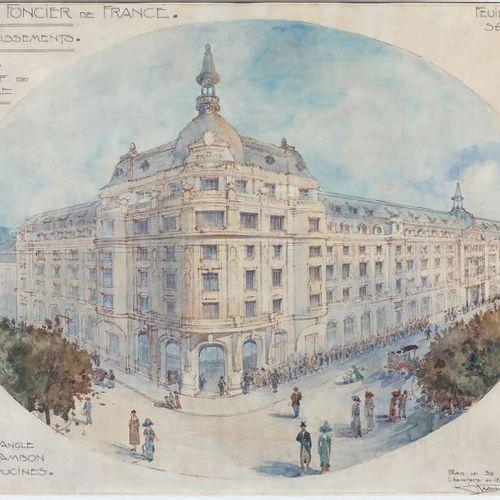 Guillaume TRONCHET (1867 1959) Expansion project of the Crédit Foncier de France…