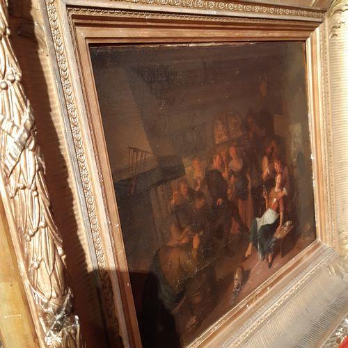 ÉCOLE HOLLANDAISE du XVIIIe siècle, dans le goût de Jan STEEN La joyeuse compagn…