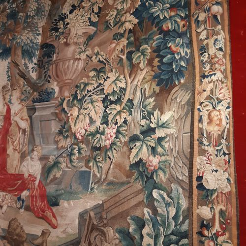 """Tapestry in wool and silk representing the Europe of the """"Tapestry of the Contin…"""