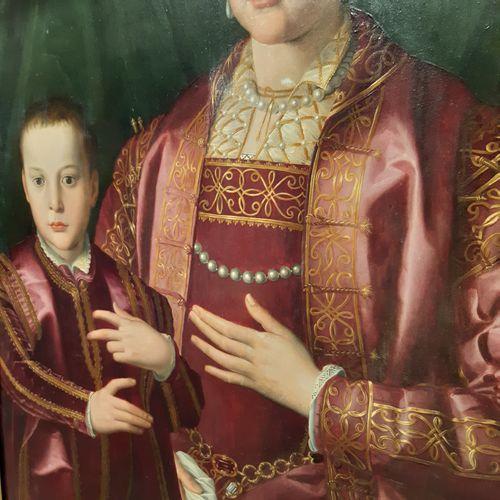 Atelier de Angelo di C. ALLORI dit BRONZINO (1503 1572) Portrait of Eleanor of T…