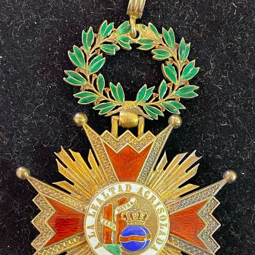 Spain Order of Isabel the Catholic, jewel of commander in gilt and enamel, boar'…