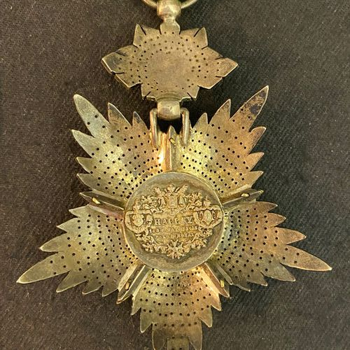 Persia / Iran Order of the Lion and the Sun, officer's jewel in the form of a fi…