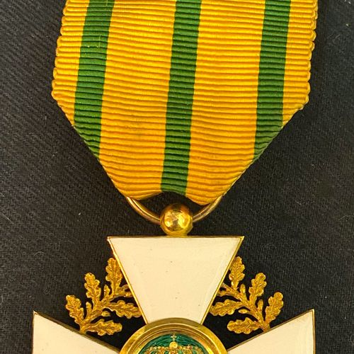 Luxembourg Order of the Crown of Oak, founded in 1841, gold and enamel officer's…