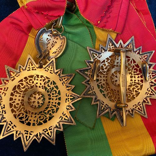 Ethiopia Order of the Star of Ethiopia, founded in 1879 by Menelik II King of Sh…