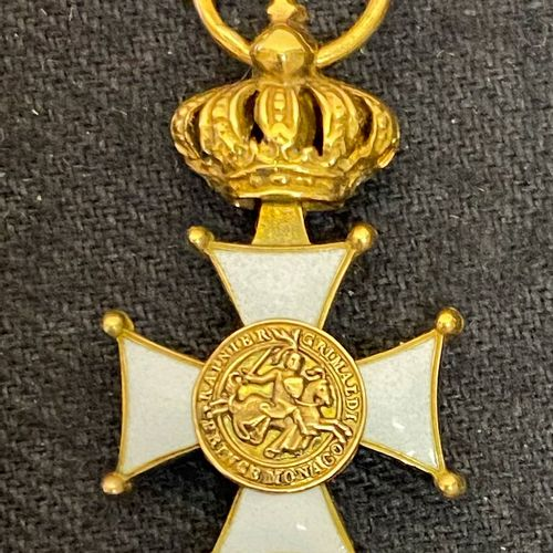 Monaco Order of the Grimaldis, founded in 1954, reduction of an officer's cross …