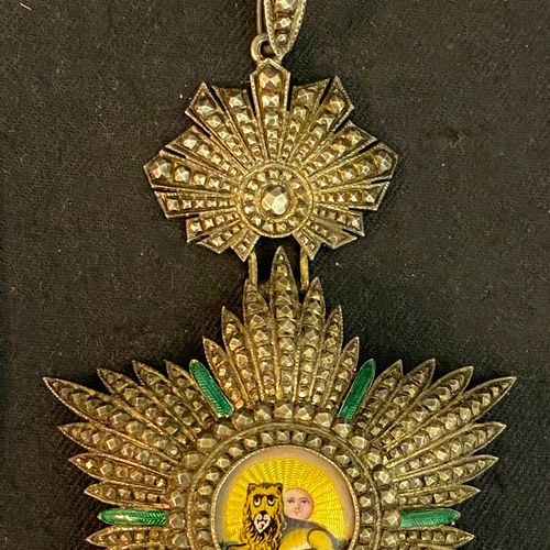 Persia / Iran Order of the Lion and the Sun, founded in 1808, jewel of commander…
