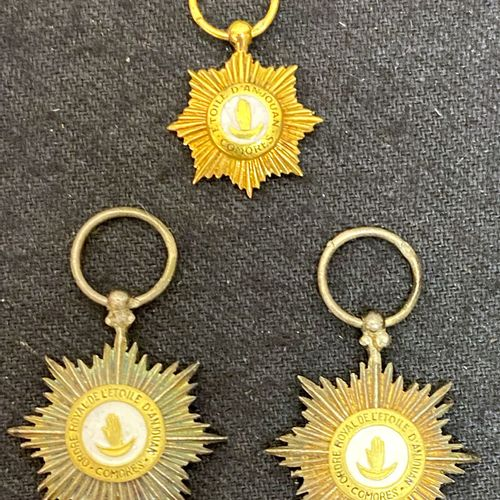 Comoros Order of the Star of Anjouan, founded in 1874, integrated into the Frenc…