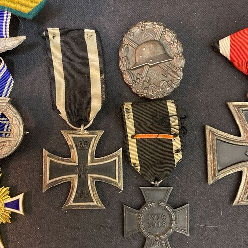 Germany, lot of about ten coins: an Iron Cross 1914 of 2nd class in silver and i…