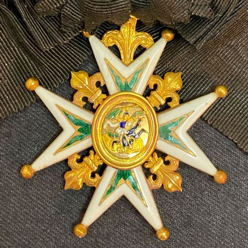 Order of St. Michael, founded in 1469, knight's cross in gold with eight points,…