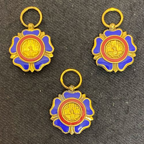 Burma Order of the Burmese Union, founded in 1948, three miniatures of the order…