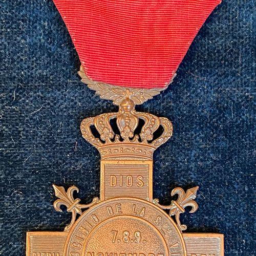 Spain Carlism, medal of the battle of Montejurra, November 7, 8 and 9, 1873, pat…