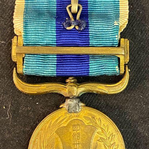 Japan Russian Japanese War Commemorative Medal, 1904 1905, in bronze (welded bac…
