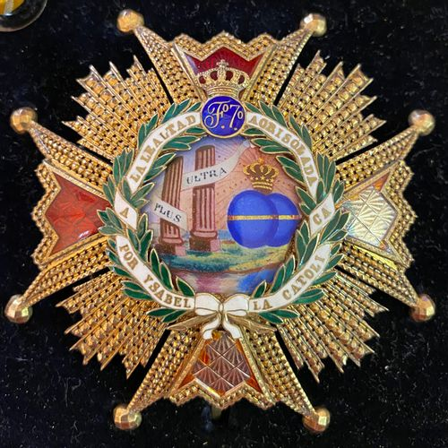 Spain Order of Isabel the Catholic, founded in 1815, set of grand crosses compri…