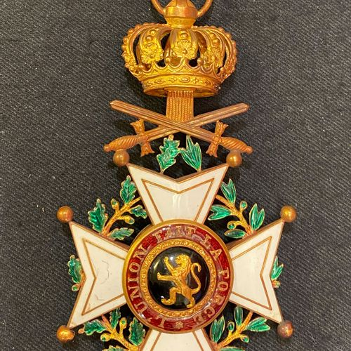 Belgium Order of Leopold, founded in 1833, Commander's cross with military title…