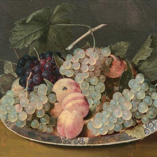 Jacob van HULSDONCK (Anvers 1582 Anvers 1647) Assiette en porcelaine chinoise, d…