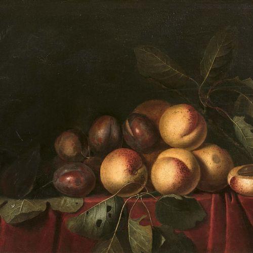 Entourage de Pierre Dupuis (1610 1682) Nature morte aux quetsches Huile sur toil…