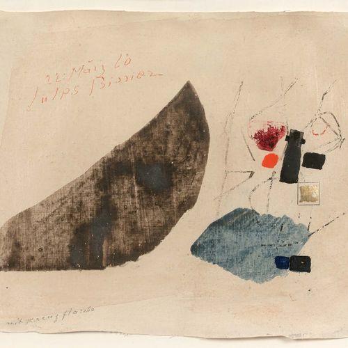 Julius BISSIER (1893 1965) Sans titre, 1960 Tempera sur toile contrecollé sur pa…