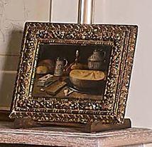 École Flamande du XVIIe siècle Nature morte aux cartes Huile sur panneau. (Resta…
