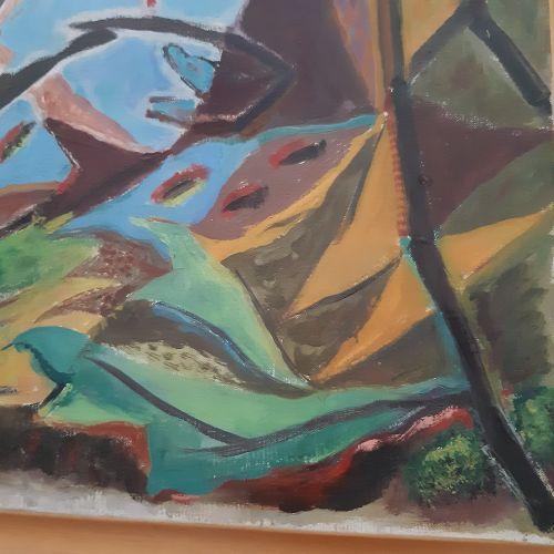 André MASSON (1896 1987) Paysage avec un oiseau mort, 1931 Huile sur toile. 39 x…