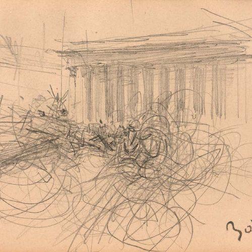 Giovanni BOLDINI (Ferrare 1842 Paris 1931) Trafic devant la Madeleine Crayon noi…