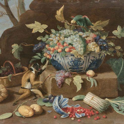 Jan van KESSEL le JEUNE (Anvers 1654 Madrid 1708) Nature morte avec coupes de po…