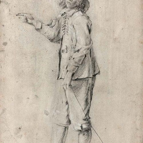 Attribué à Cornelis de MAN (Delft 1621 Delft 1706) Etude d'un garçon debout Pier…
