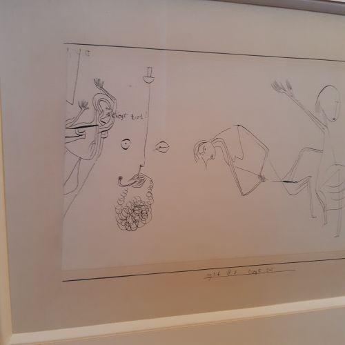 Paul Klee (1879 1940) Liegt tot, 1926, 173 (H3) Encre sur papier contrecollé sur…