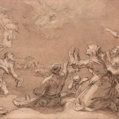 Atelier de Abraham BLOEMAERT (Gorinchem 1566 Utrecht 1651) L'annonce faite aux B…