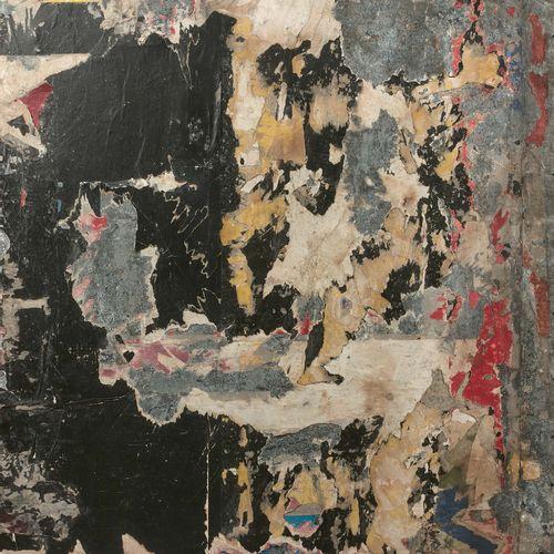 Raymond Hains (1926 2005) Sans titre, 1961 Affiches lacérées sur tôle, signées e…