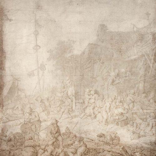 Guillaume de HEER (Amsterdam 1637 Amsterdam 1681) Scène de réjouissance paysanne…