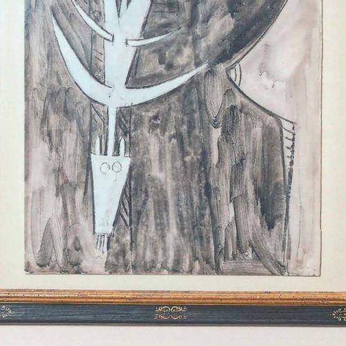 Wifredo LAM (1902 1982) Sans titre, 1961 Encre et gouache sur papier, signée et …