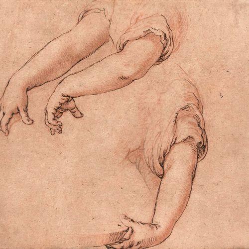 Abraham BLOEMAERT (Gorinchen 1566 Utrecht 1651) Études de bras Plume, encre brun…