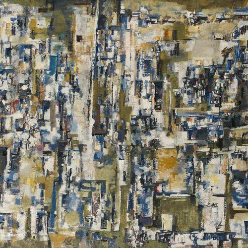 MARIA HELENA VIEIRA DA SILVA (1908 1992) Bleu et jaune ou Les villages, 1960 Hui…