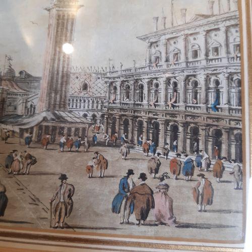 Giacomo GUARDI (Venise 1764 Venise 1835) Vue du pont du Rialto Vue de la place S…