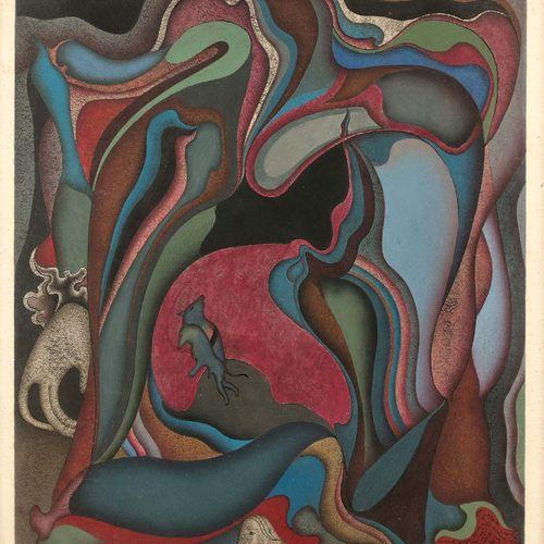 Mihaïl CHEMIAKIN (né en 1943) Les louveteaux d'octobre, 1973 Gouache sur papier,…