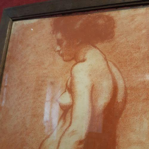 LOUIS ANQUETIN (1861 1932) Étude de nus de dos et de trois quart Sanguine (Quelq…
