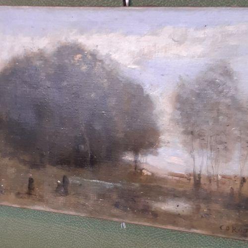 Jean Baptiste Camille COROT (1796 1875) Trois personnages au marais, vers 1865 1…