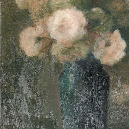 Henri Julien DUMONT (1859 1921) Bouquet de roses Huile sur toile, signée en haut…