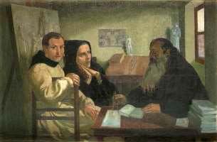 Maurice DENIS (1870 1943) Étude pour Les moines de Beuron, vers 1903 1904 (Jean …