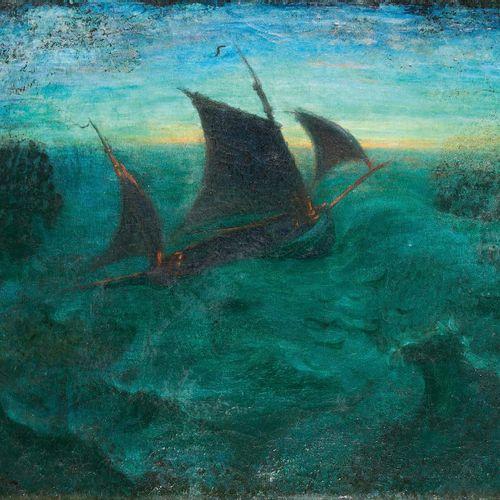 LOUIS ANQUETIN (1861 1932) Marine Huile sur toile, signée en bas à gauche. (Peti…