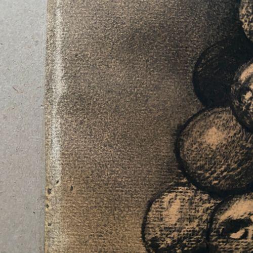 Odilon REDON (1840 1916) La grappe ou le marchand de ballons Dessin au fusain et…