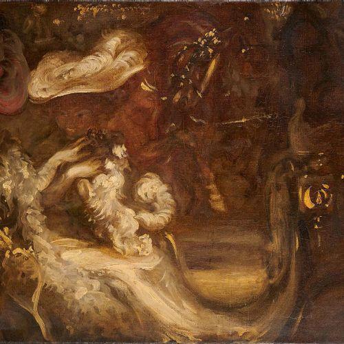 LOUIS ANQUETIN (1861 1932) Deux femmes au chien dans une calèche Huile sur toile…