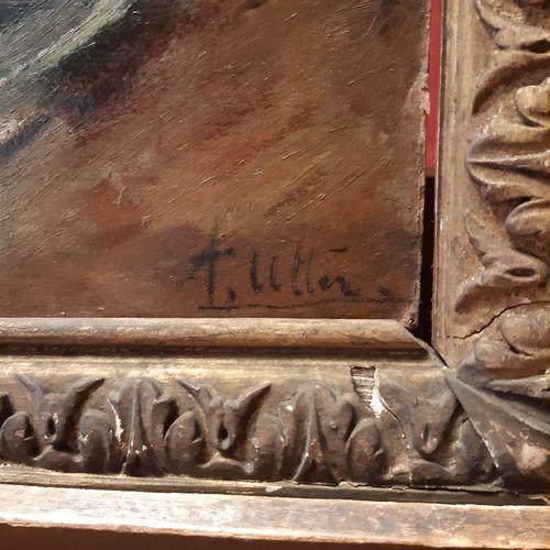 André UTTER (1886 1948) L'assiette de fruits Huile sur carton, signée bas à droi…