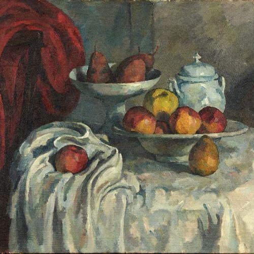Alfredo MULLER (1869 1939) Hommage à Cézanne, vers 1908 1910 Huile sur toile, po…