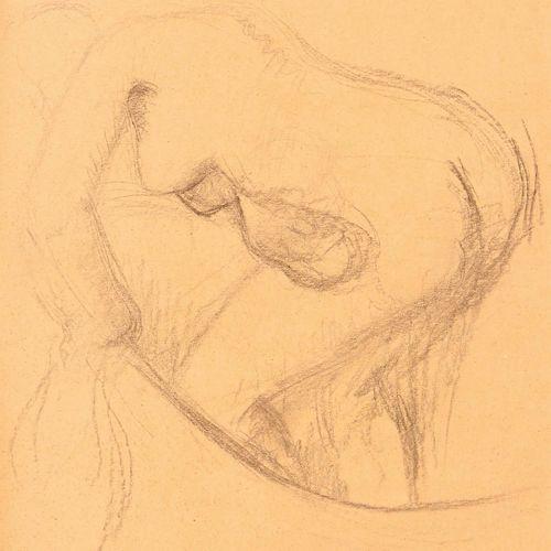 Edgar DEGAS (1834 1917) Baigneuse au tub Dessin au crayon noir et à l'estompe, p…