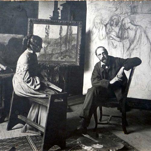 Alfredo MULLER (1869 1939) La Seine aux environs de Vernonnet, vers 1899 1901 Hu…