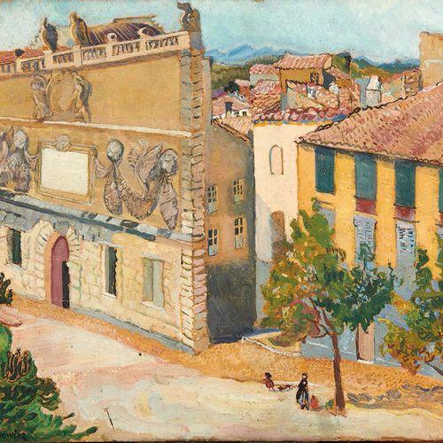 Zofia PIRAMOWICZ (1887 1957) Rue de village Huile sur panneau, signée en bas à g…