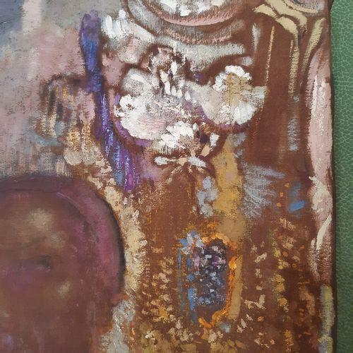 Odilon REDON (1840 1916) Le prophète Huile sur toile, signée en bas à droite. 54…