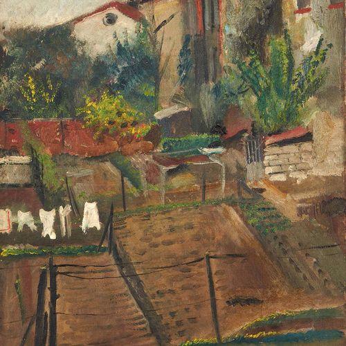 Lucien ADRION (1889 1953) Le linge Huile sur toile, signée en bas à droite. (Acc…