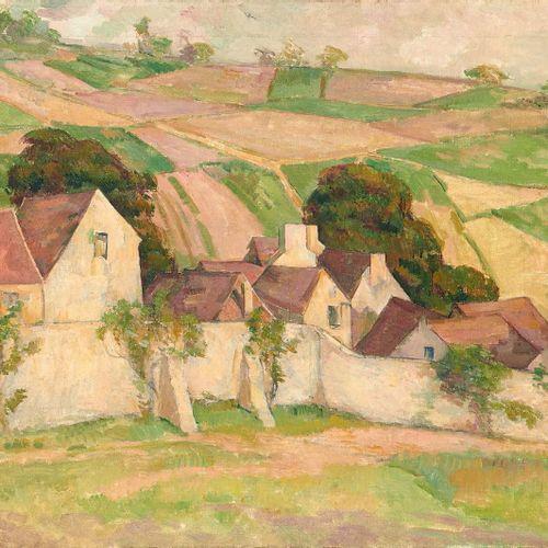 Alfredo MULLER (1869 1939) Pontoise, la côte des Mathurins, vers 1902 1904 Huile…